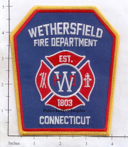 Connecticut - Wethersfield Fire Dept Patch