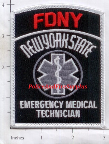 New York City Emergency Medical Technician Fire Patch Subdued v16