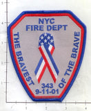 New York - New York City Bravest of the Brave Fire Dept Patch patch v3
