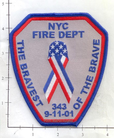 New York City - New York City Bravest of the Brave Fire Dept Patch v3