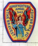 New York New Jersey - Bravest of the Brave Fire Dept Patch v4 Angel