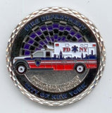New York City - EMS, 1B Class, of 2017, Arroyo & Tolley Memorial Fire Dept Silver Coin