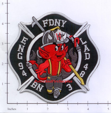 New York City Engine  94 Ladder 48 Battalion 3 Fire Patch v6
