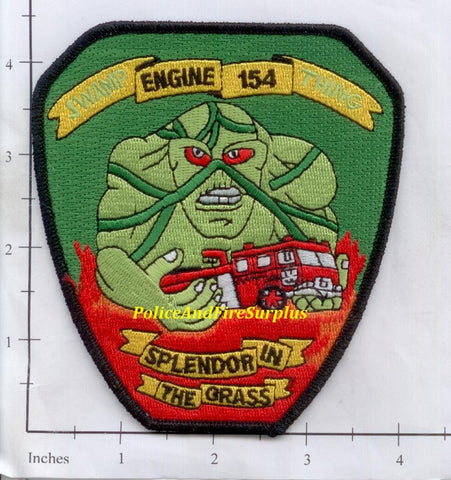 New York City Engine 154 Fire Patch v17 Swamp Thing