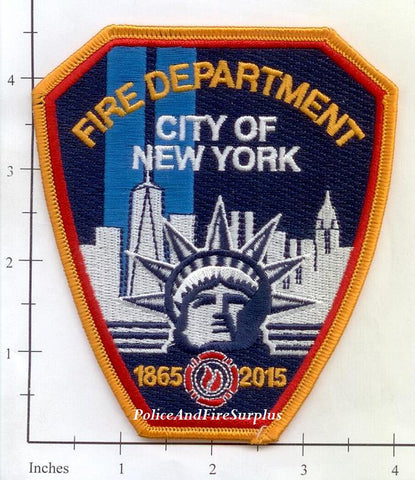 New York City Fire Dept Shoulder Patch 150th Anniversary