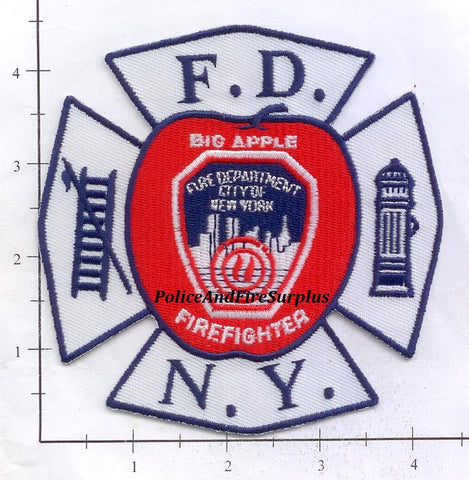 New York City Big Apple Firefighter Fire Dept Patch