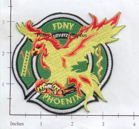 New York City Phoenix Society Fire Dept Patch