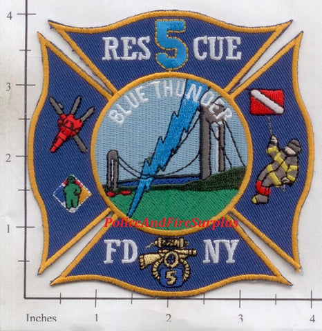 New York City Rescue 5 Fire Dept Patch v66