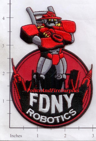 New York City Robotics Unit Fire Dept Patch