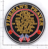 Fireman's Prayer Fire Dept Patch