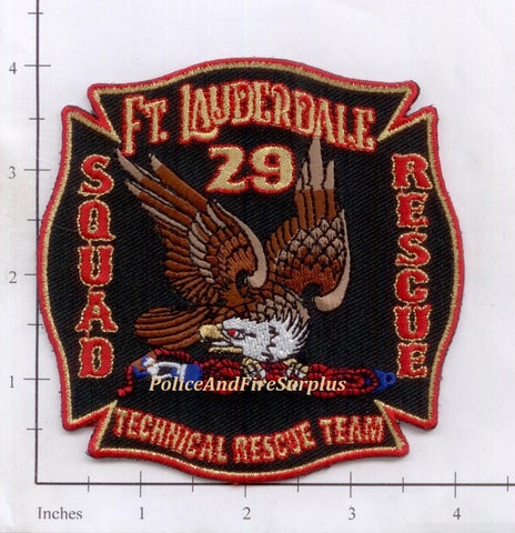 Florida - Fort Lauderdale Squad 29 Rescue 29 Fire Dept Patch