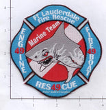 Florida - Fort Lauderdale Engine 49 Rescue 49 Fireboat 49 Fire Dept Patch