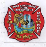 Florida - Fort Lauderdale Engine 54 Rescue 54 Fire Dept Patch