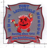 Florida - Fort Lauderdale Fire Administration Fire Dept Patch