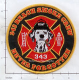 Florida - Pompano Beach 343 Smoke Crew Fire Dept Patch v1