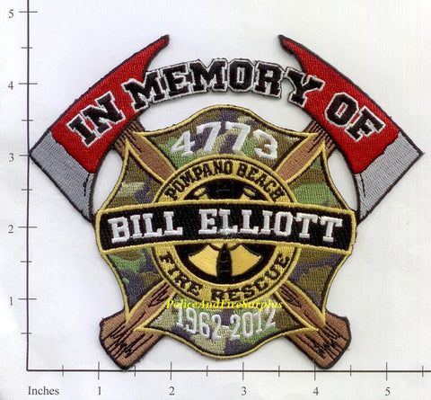 Florida - Pompano Fire Dept In Memory of Bill Elliot Patch