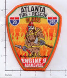 Georgia - Atlanta Engine 9 Fire Dept Patch