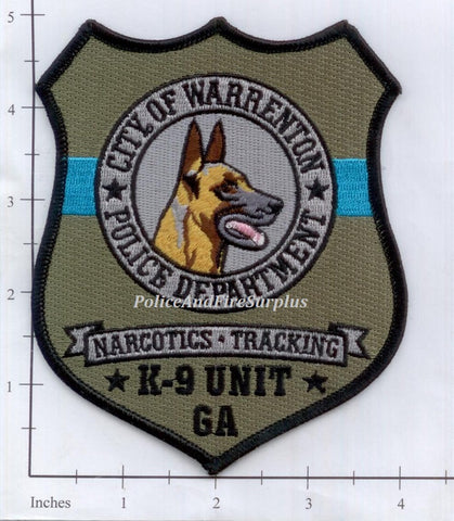 Georgia - Warrenton K-9 Police Dept Patch