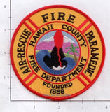 Hawaii - Hawaii County Air Rescue Paramedic Fire Dept Patch v2