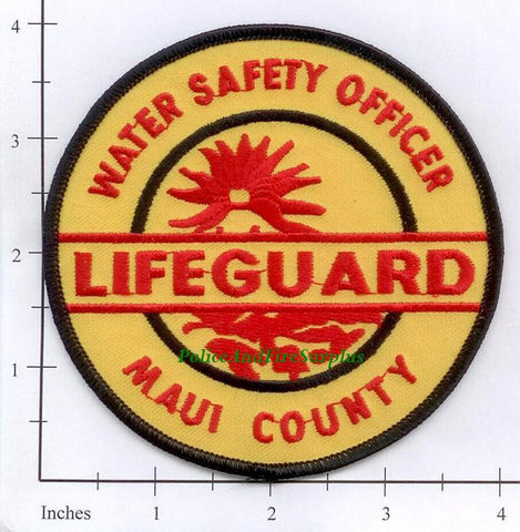 Hawaii - Maui County Lifeguard Water Safety Patch