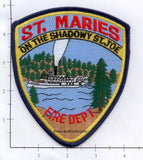 Idaho - St Maries Fire Dept Patch v1 - 5 inches