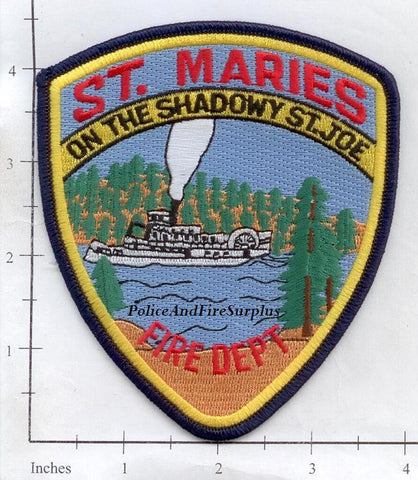 Idaho - St Maries Fire Dept Patch v2 - 4.5 inches