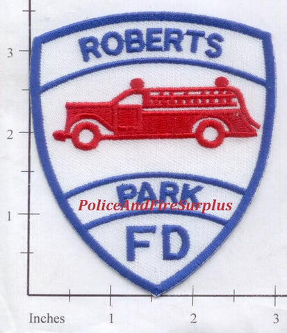 Illinois - Roberts Park Fire Dept Patch
