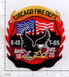 Illinois - Chicago Engine  15, Truck 59, Ambulance 18, Battalion 20 Fire Dept Patch