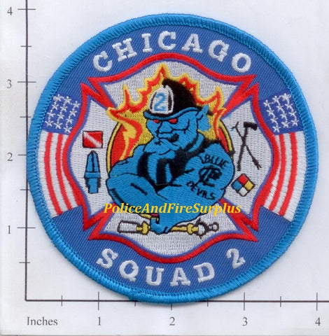Illinois - Chicago Squad 2 Fire Dept Patch v2