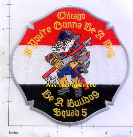 Illinois - Chicago Squad 5 Fire Dept Patch v2