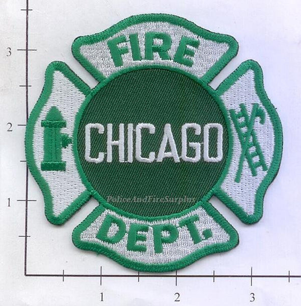Illinois Chicago Fire Dept Patch V6 Green Police And Fire