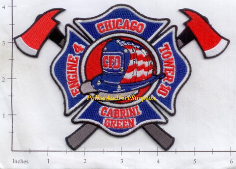 Illinois - Chicago Engine   4 Truck 10 Fire Dept Patch