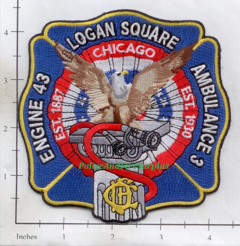 Illinois - Chicago Engine  43 Ambulance 3 Fire Dept Patch
