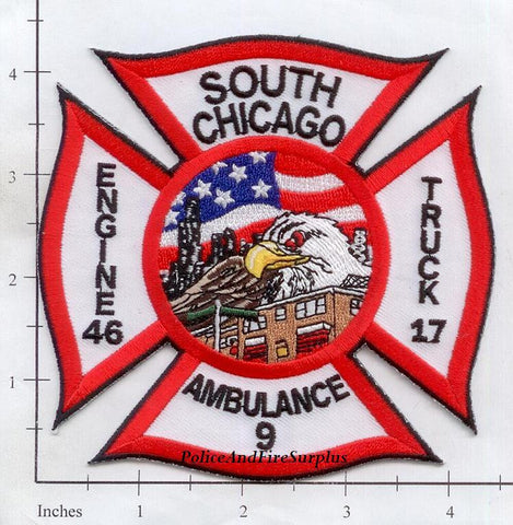 Illinois - Chicago Engine  46 Truck 17 Ambulance 6 Fire Dept Patch v2