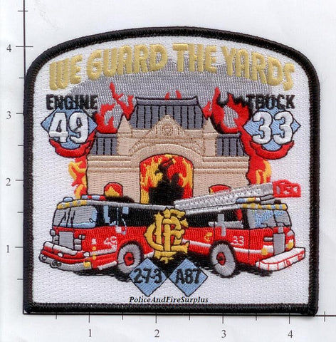 Illinois - Chicago Engine  49 Truck 33 Ambulance 87 Unit 2-7-3 Fire Dept Patch