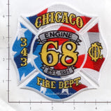 Illinois - Chicago Engine  68 Ambulance 63 Fire Dept Patch v1