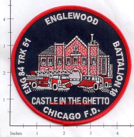Illinois - Chicago Engine  84 Truck 51 Battalion 18 Fire Dept Patch v1
