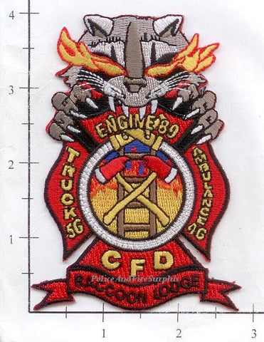Illinois - Chicago Engine  89, Truck 56, Ambulance 46 Fire Dept Patch v2