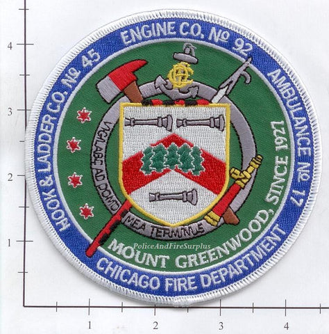 Illinois - Chicago Engine  92 Truck 45 Ambulance 17 Fire Dept Patch v1