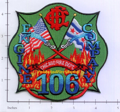 Illinois - Chicago Engine 106 Fire Dept Patch