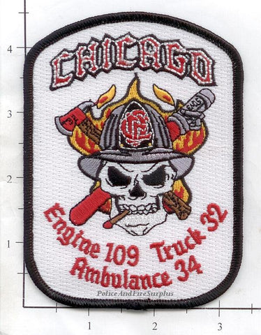 Illinois - Chicago Engine 109 Truck 32 Ambulance 34 Fire Dept Patch
