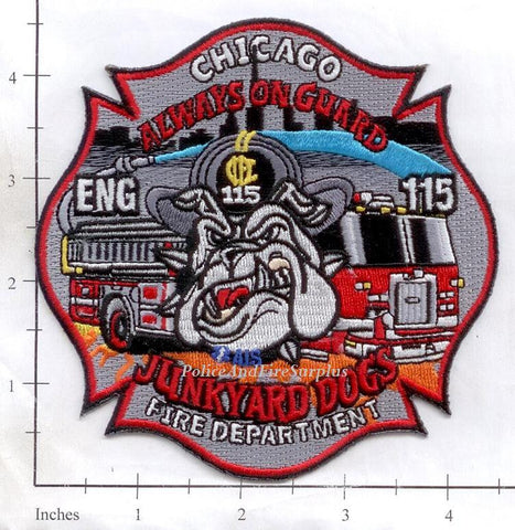 Illinois - Chicago Engine 115 Fire Dept Patch v2