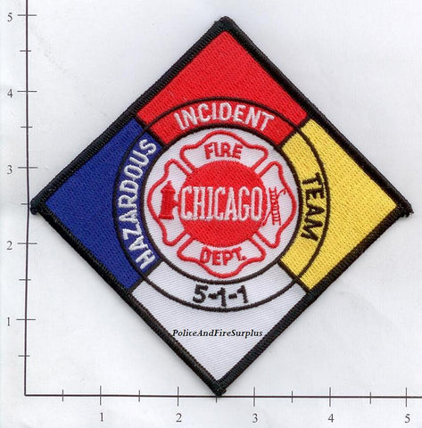 Illinois - Chicago Haz Mat 511 Fire Dept Patch