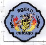 Illinois - Chicago Squad 2 Fire Dept Patch
