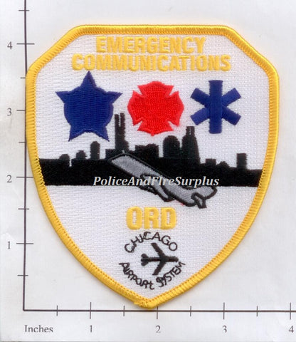 Illinois - Chicago O'Hare Airport Emergency Communications Fire Dept Patch