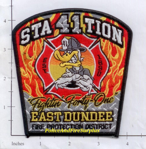 Illinois - East Dundee Station 41 Fire Dept Patch