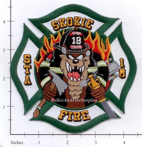 Illinois - Skokie Station 18 Fire Dept Patch