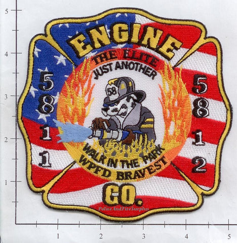 Illinois - Washinton Park Engine 5811 & 5812 Fire Dept Patch