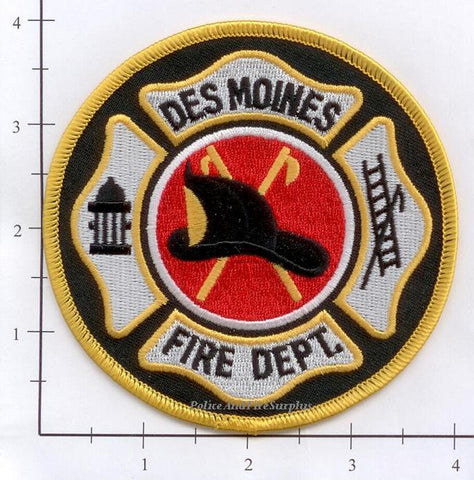 Iowa - Des Moines Fire Dept Patch