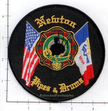 Iowa - Newton Pipes & Drums Fire Dept Patch